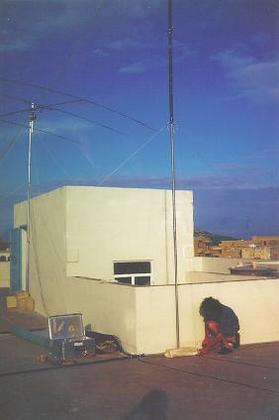 The Homemade Vertical (40m, 80m and 160m app. 13m high)