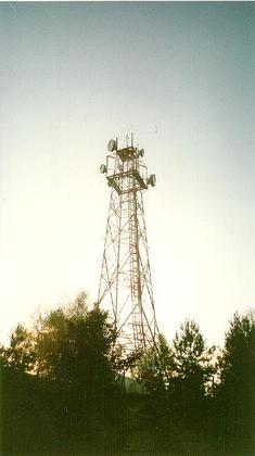 The impressive 60m (200feet) Telecommunications Tower