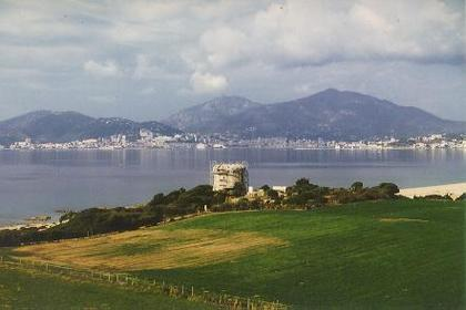 the Town of Ajaccio: app. 10km north of the QTH